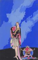 Illustratori - Nasmeshnikoff Pseud. Meschini - Donna In Verticale - F. Piccolo - Scritta - Molto Bella - Dipinta A Mano - Other Illustrators