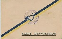 636  - CHAMBERY - DIABLES BLEUS  CARTE D' INVITATION Au GRAND BAL -   LE 4 Février 1933 - CHASSEURS ALPINS - Other