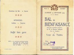 637  - CHAMBERY - 1929 - CARTE D' INVITATION Au GRAND BAL De BIENFAISANCE-   LE 23 Février 1929 -  RARE - Other