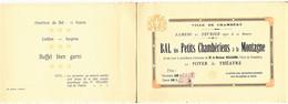 642 - CHAMBERY- CARTE D' INVITATION Au  BAL Des Petits Chambériens à La Montagne-  LE 22 Février 1930-  RARE - Other