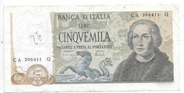*italy 5000 Lire 1971-77    102b - 5000 Liras