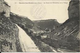 """BAUME LES MESSIEURS , La Route De L' Echaillon Et Le Village , 1910 , + Cachet """" Hôtel Des Grottes , Charles POULET """" - Baume-les-Messieurs"""