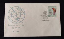 MAC1106 - Macau FDC With 1 Stamp - Centenary Of ITU - International Telecommunications Union - Macau - 1965 - FDC