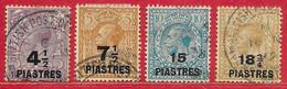 Levant Britannique N°60 à/to 63 1921 O - British Levant