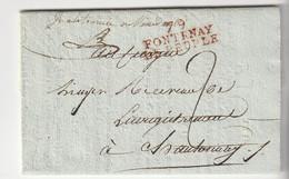 """Lettre Avec Marque """"79 / Fontenay  Le Peuple """" Nom Révolutionnaire De Fontenay Le Comte, An X / 1802 - 1701-1800: Vorläufer XVIII"""
