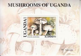 2001 Uganda  Mushrooms Funghi  MNH -Two Miniature Sheets - Ouganda (1962-...)