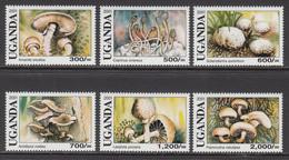 2001 Uganda  Mushrooms Funghi Complete  MNH - Ouganda (1962-...)