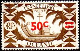 Océanie Obl. N° 172 - Série De Londres  - Le Surchargé 50c Sur 5c Sépia - Oblitérés