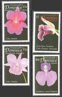 ZZ888 DOMINICA FLORA NATURE FLOWERS ORCHIDS OF THE CARIBBEAN BASIN 1SET MNH - Orchidee