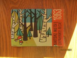 Rare! ESTONIA 1963 Pocket Calendar MUSHROOM    ,  O - Small : 1961-70