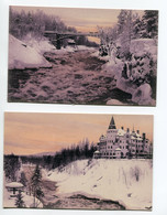 FINLANDE IMATRA 2 Cartes Pont Chateau     Hiver   D08 2019 - Finland