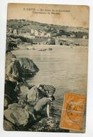 34 SETE CETTE  Pecheurs Chercheurs De Moules Rochers Coin De La Corniche 1922 écrite Timb   D08 2019 - Sete (Cette)