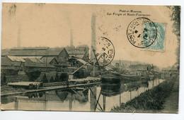 54 PONT à MOUSSON Batellerie Péniches Canal Les Forges Hauts Fourneaux Quai Marchandises Chargement  1906  D08 2019 - Pont A Mousson