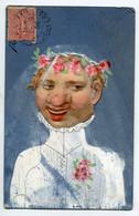 """SURREALISME Collage Et Peinture """" Le Portrait De Ta Future Epouse """"  Mariée Noce 1904 écrite Paris 17em      D09 2019 - Other"""