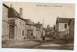 51 PROUILLY Groupe Enfants Dans La Grande Rue écrite Du Bourg En 1934   D09 2019 - Andere Gemeenten