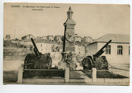 54 AUBOUE Le Monument Aux Morts Et Ses Deux Canons  Guerre 1914-1918 Place Village Muller Edit  - 1922 écrite  D10 2019 - Andere Gemeenten
