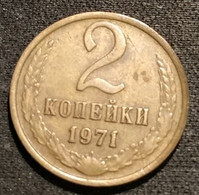 RUSSIE - RUSSIA - 2 KOPECKS 1971 - 15 Rubans - KM 127a - КОПЕЕК - Rusland