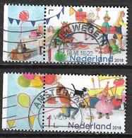 2018 Verjaardagspostzegel 2 Verschillende Uit Het Vel NVPH 3614-3618 - Used Stamps