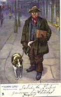 "Illustrateur Esward King  ""TOWN LIFE"" The Ratcatcher (Attrapeur De Rats) RV TUCK's - Paintings"