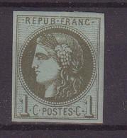 FRANCE : N° 39 * . TB . SIGNE BRUN . 1870 . - 1870 Emission De Bordeaux
