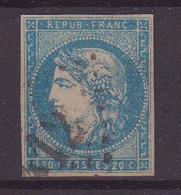 FRANCE : N° 44 A  . OBL . PETIT AMINCI . 1870 . - 1870 Emission De Bordeaux