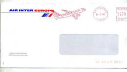 Lettre  Flamme Ema Merignac Air Inter Europe - EMA (Printer Machine)