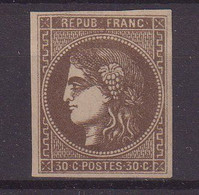 FRANCE : N° 47 (*) . LEGER POINT CLAIR . 1870 . ( CATALOGUE YVERT ) . - 1870 Emission De Bordeaux