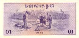 CAMBODIA P. 18a  0,1 R 1975  UNC - Kambodscha