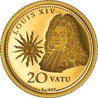 Monnaie, Vanuatu, Louis XIV, 20 Vatu, 2015, British Royal Mint, FDC, Or - Vanuatu