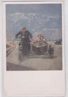 "Adlivankin Artiste ""Out Of Town !"" Illustrateur Russie Soviétique Moto Side-Car - Motorbikes"