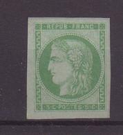 FRANCE : N° 42 A   . REPORT 1 . POSITION 15 . REPARE REGOMME  . CERTIFICAT SCHELLER . 1870 . TB .  ( CATALOGUE YVERT ) . - 1870 Bordeaux Printing