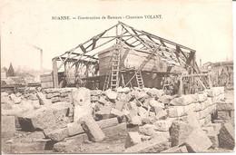 ROANNE (42) Construction De Bateaux - Chantiers VOLANT En 1906  (Carte Pas Très Courante) - Roanne
