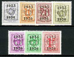 België PRE652/PRE658 * - 1955 - Cijfer Op Heraldieke Leeuw - Chiffre Sur Lion Héraldique - Preo Reeks 48 - 7w. - Typos 1951-80 (Ziffer Auf Löwe)