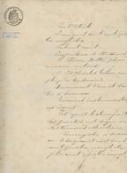 FISCAUX DE MONACO  PAPIER TIMBRE 1890  FIDES PUBLICA 75 C   Filigrane ALBERT I - Fiscaux