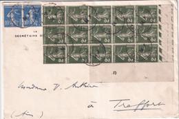 SEMEUSE CAMEE 2c BLOC De 15 ! - 1934 - ENVELOPPE De ROUEN - 1906-38 Sower - Cameo
