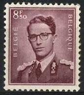 België 1072 * - Koning Boudewijn - Type Marchand - 8,50 Lilabruin - Unused Stamps