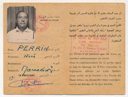 """MAROC - Carte De Pêche - """"La Truite Du Haut-Atlas - Marrakech"""" Carte De Sociétaire 1967 à 1974 - Non Classés"""