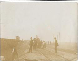Melun : Photo Incendie De La Gare Le 21 Mars 1903 - Melun