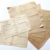 Banque Journel & Cie - Agence De Laon - Lot De 8 Bordereaux Des Coupons - Période 1920 1930 - Bank & Insurance