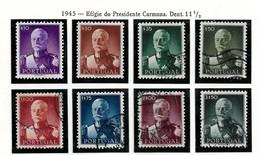 PORTUGAL STAMP - 1945 President Antonio Oscar De Fragoso Carmona SET USED (STB9-198) - Usati