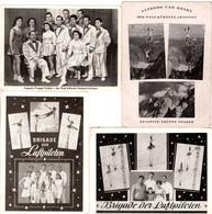 4 Fotokarten - Brigade Der Luftpiloten - Zugspitztruppe Traber - Equilibristes à Moto, Afredo Und Henry Der Welt Kühnste - Célébrités