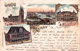 Deutschland - Gruss Aus BREMEN - Litho 1900 - Bremen