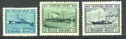 België 725/27 * - Maildienst Oostende-Dover - Unused Stamps