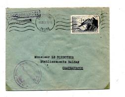 Lettre Recommandée Flamme Muette Chateaudun Sur Raz - Mechanical Postmarks (Advertisement)