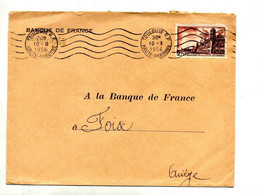 Lettre Flamme Muette Toulouse Sur Brouage - Mechanical Postmarks (Advertisement)