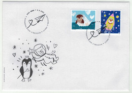 Suisse /Schweiz/Svizzera/Switzerland // FDC // 2021 // Animaux Messagers  1er Jour - FDC