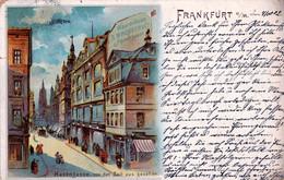 Deutschland - FRANKFURT Am MAIN - Hasengasse Von Der Zeil Aus Gesehen - Litho 1902 - Frankfurt A. Main