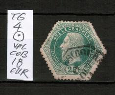 Timbres Télégraphe TG 4 , Oblitération Rare, VAL COB 18 EUR - Telégrafo