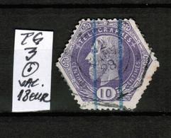 Timbres Télégraphe TG 3 , Oblitéré, VAL COB 18 EUR - Telégrafo