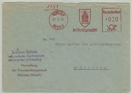 Deutsche Post 1950, Brief EMA Oberbürgermeister Münster - Hiltrup, Rathaus / Hôtel De Ville / City Hall - Sin Clasificación